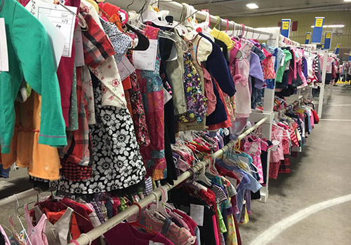 clothing hanging at sale